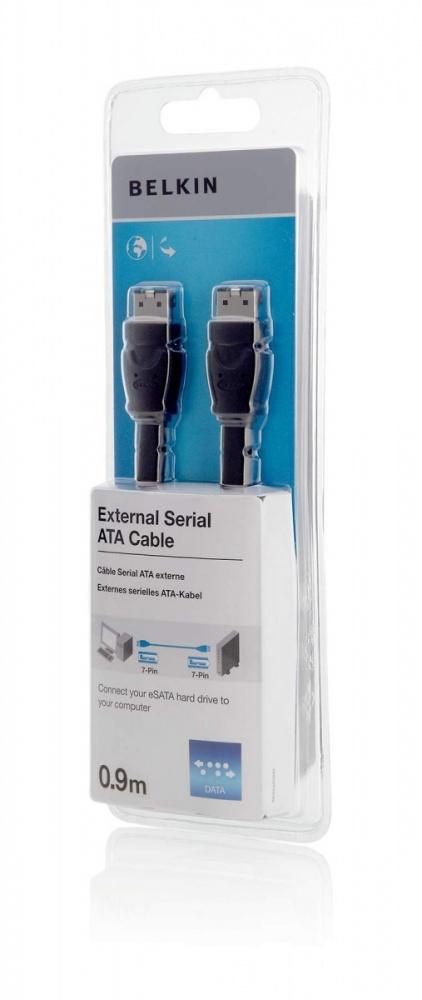 Belkin F2N1192CP0.9M SATA cable 0.9 m eSATA Black