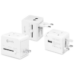 Macally LP-PTCII Type C (Europlug) Type I (AU) White power plug adapter