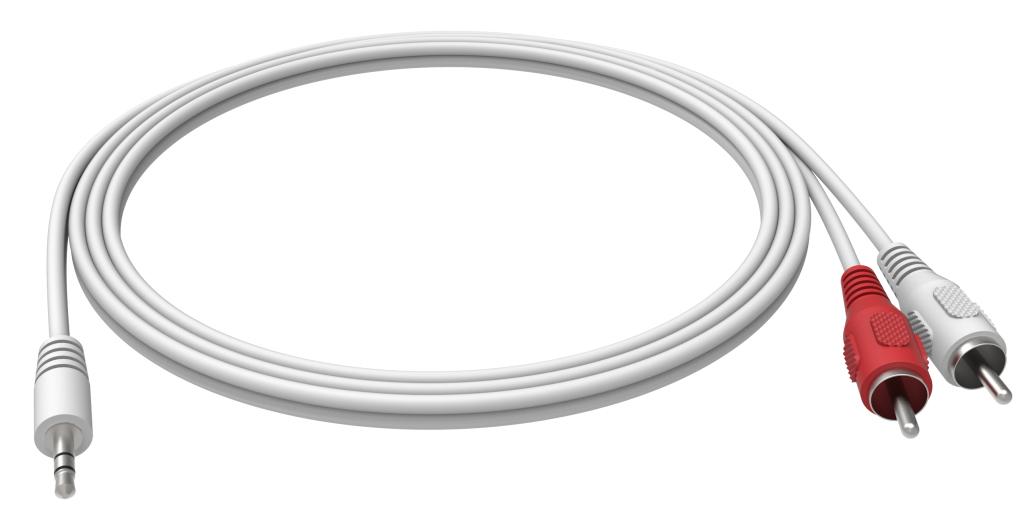 Vision 3.5mm - 2 RCA, 2m cable de audio 3,5mm 2 x RCA Blanco
