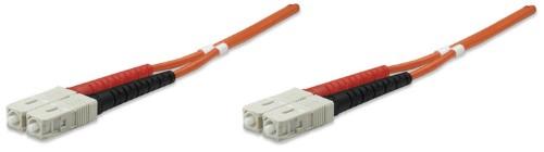 Intellinet Fibre Optic Patch Cable, Duplex, Multimode, SC/SC, 50/125 µm, OM2, 5m, LSZH, Orange