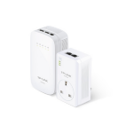 TP-LINK AV500 500Mbit/s Ethernet LAN connection Wi-Fi White 2pcs PowerLine network adapter