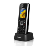 Yealink W52P Wired handset LCD Black IP phone