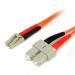 StarTech.com Cable Adaptador de Red de 1m Multimodo Dúplex Fibra Óptica LC-SC 62,5/125 - Patch Duplex