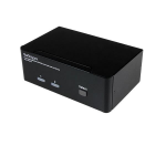 StarTech.com 2-poort Dubbele DisplayPort USB KVM-switch met Audio en USB 2.0-hub