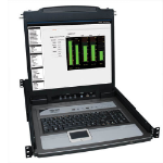 Tripp Lite NetDirector 8-Port 1U Rack-Mount Console KVM Switch with 19-in. LCD + 8 PS2/USB Combo Cables