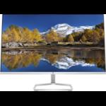 "HP M27fq 27"" 2560 x 1440 pixels Quad HD LED Silver, Black"