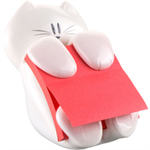 Post-It Pop-up Notes Dispenser for 3 in x 3 in Notes, Cat Dispenser note paper dispenser