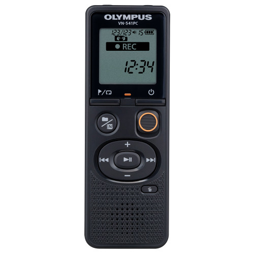 Voice Recorder Vn-541pc 4GB Flash Based With Telephone Pickup Tp-8 Microphone Black