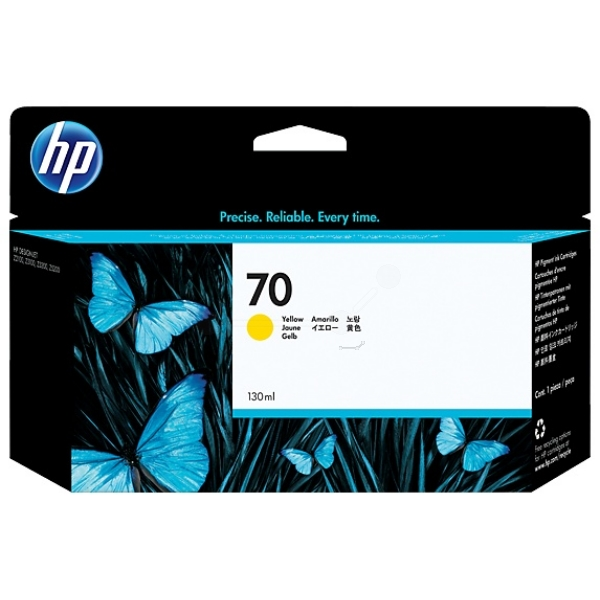 HP C9454A (70) Ink cartridge yellow, 130ml
