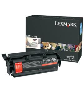 Lexmark X651H31E Toner black, 25K pages
