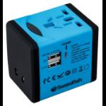 Swordfish 40248 power adapter/inverter Indoor Black,Blue