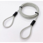 Microconnect MC-LOCKWIRE2M cable lock Black, Metallic 2 m