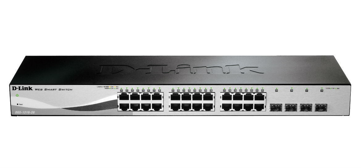 D-Link DGS-1210-28 network switch Black 1U