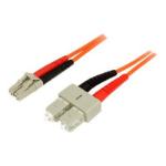 "StarTech.com 50FIBLCSC5 fiber optic cable 196.9"" (5 m) LC SC OM2 Orange"