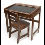 Lipper Child Chalkbd Dsk Chair Walnut