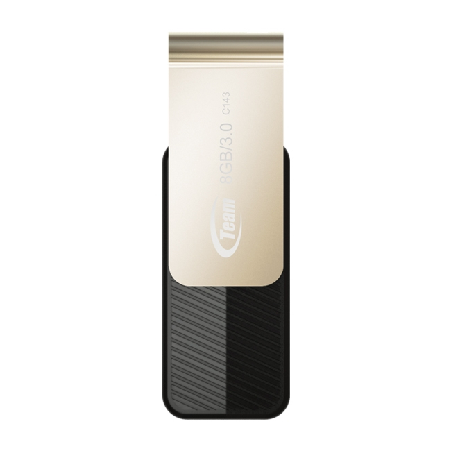 Team Group C143 USB flash drive 8 GB 3.0 (3.1 Gen 1) USB Type-A connector Black, Gold