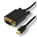 MCL MC295-1.5M adaptador de cable de vídeo 1,5 m DisplayPort VGA (D-Sub) Negro