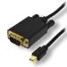 MCL MC295-1.5M adaptador de cable de vídeo 1,5 m DisplayPort VGA (D-Sub) Negro