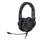 Roccat Cross Multi-platform Over-ear Stereo Gaming Headset with Dual Detachable Microphones, Black (ROC-14-