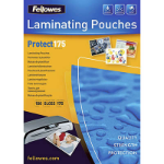 FELLOWES LAMINATING POUCH 64 X 99MM 175 MICRON GLOSS PACK 100