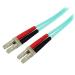 StarTech.com Cable de Red de 2m Multimodo Dúplex Fibra Óptica LC-LC 50/125 Libre de Halógenos- LSZH - Aguamarina