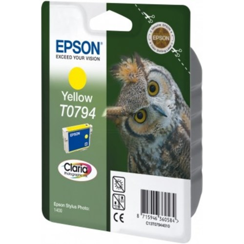 Epson C13T07944020 (T0794) Ink cartridge yellow, 1.07K pages, 11ml