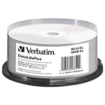 Verbatim BD-R DL 50GB 6X, 25 pack