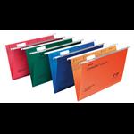 Rexel Crystalfile Classic Foolscap Suspension File 15mm Orange(50)