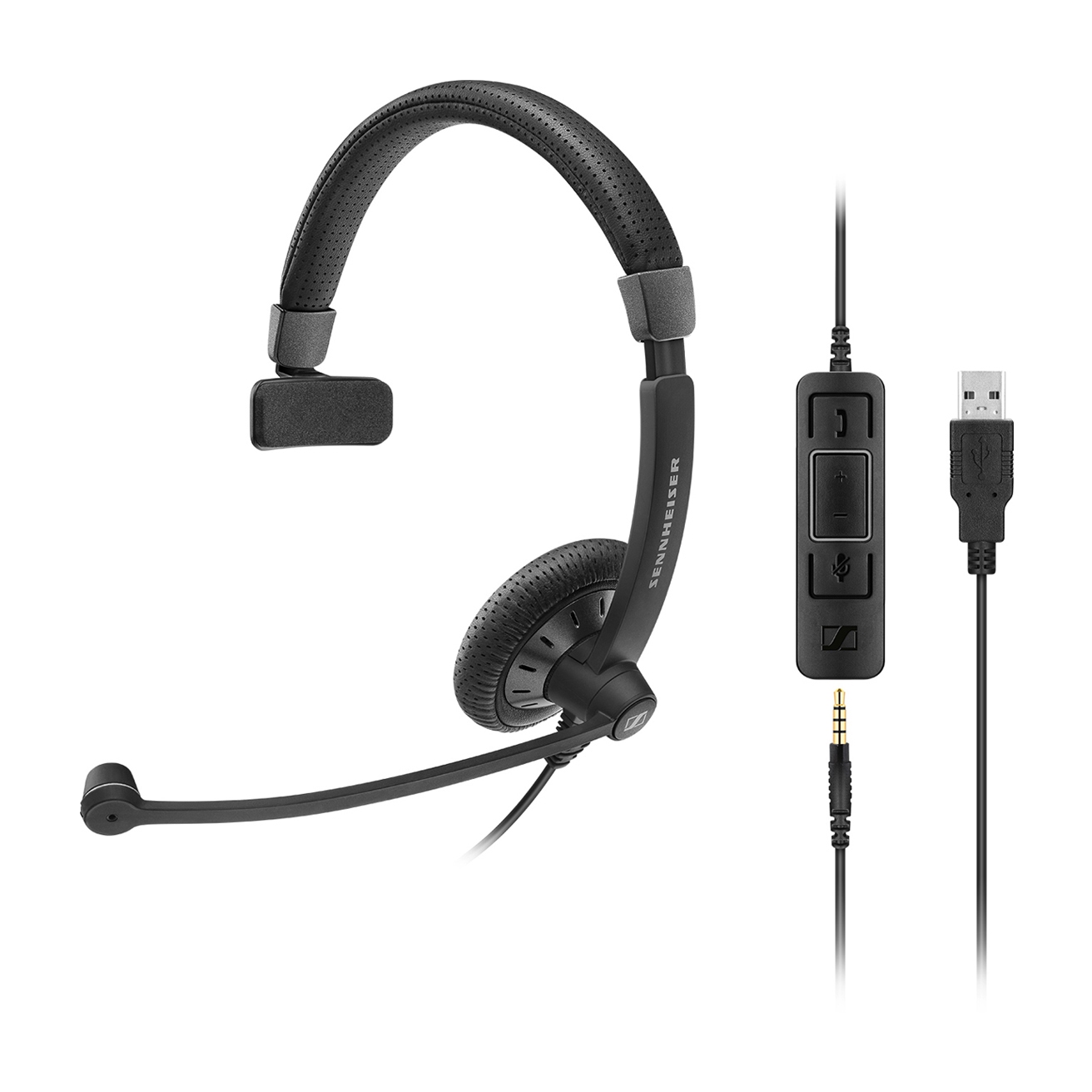 Sennheiser SC 45 USB CTRL Monaural Head-band Black headset