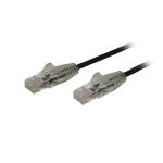StarTech.com 3 m CAT6 Cable - Slim - Snagless RJ45 Connectors - Black