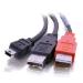 C2G USB Mini-B/USB A Y-Cable cable USB 2 m USB 2.0 Mini-USB B Negro