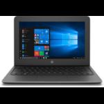 "HP Stream 11 Pro G5 Notebook 11.6"" 1366 x 768 pixels Intel® Celeron® 4 GB DDR4-SDRAM 128 GB eMMC Wi-Fi 5 (802.11ac) Windows 10 Pro Black"