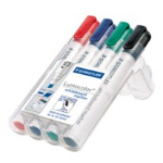 Staedtler Lumocolor 351 B WP4 Black, Blue, Green, Red 4pc(s) marker