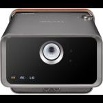 Viewsonic X10-4K data projector 2400 ANSI lumens LED 2160p (3840x2160) 3D Desktop projector Black,Brown