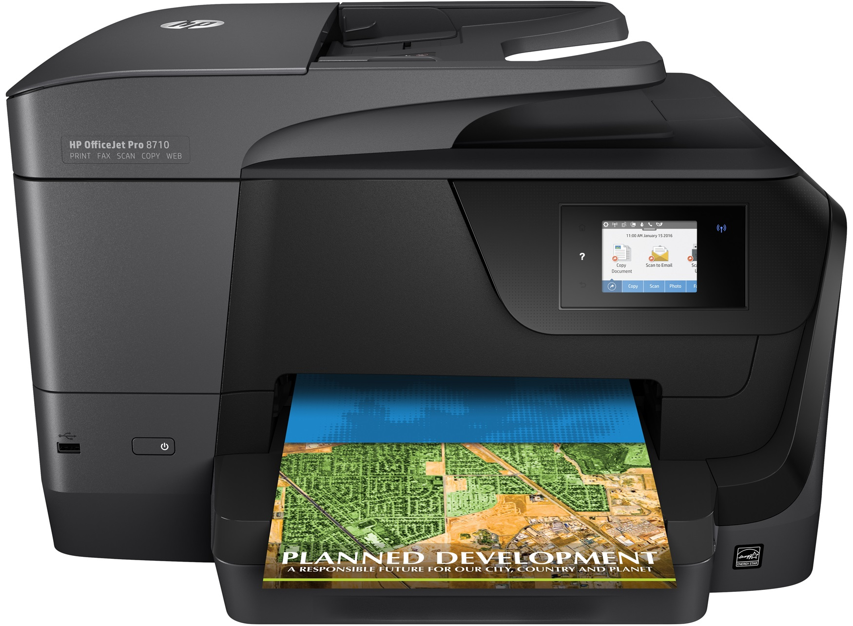 HP OfficeJet Pro 8710 AiO 4800 x 1200DPI Thermal Inkjet A4 22ppm Wi-Fi