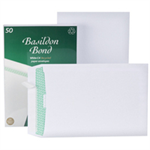 Basildon Envelopes Recycled Pocket Peel and Seal 120gsm C4 White Ref L80281 [Pack 50]