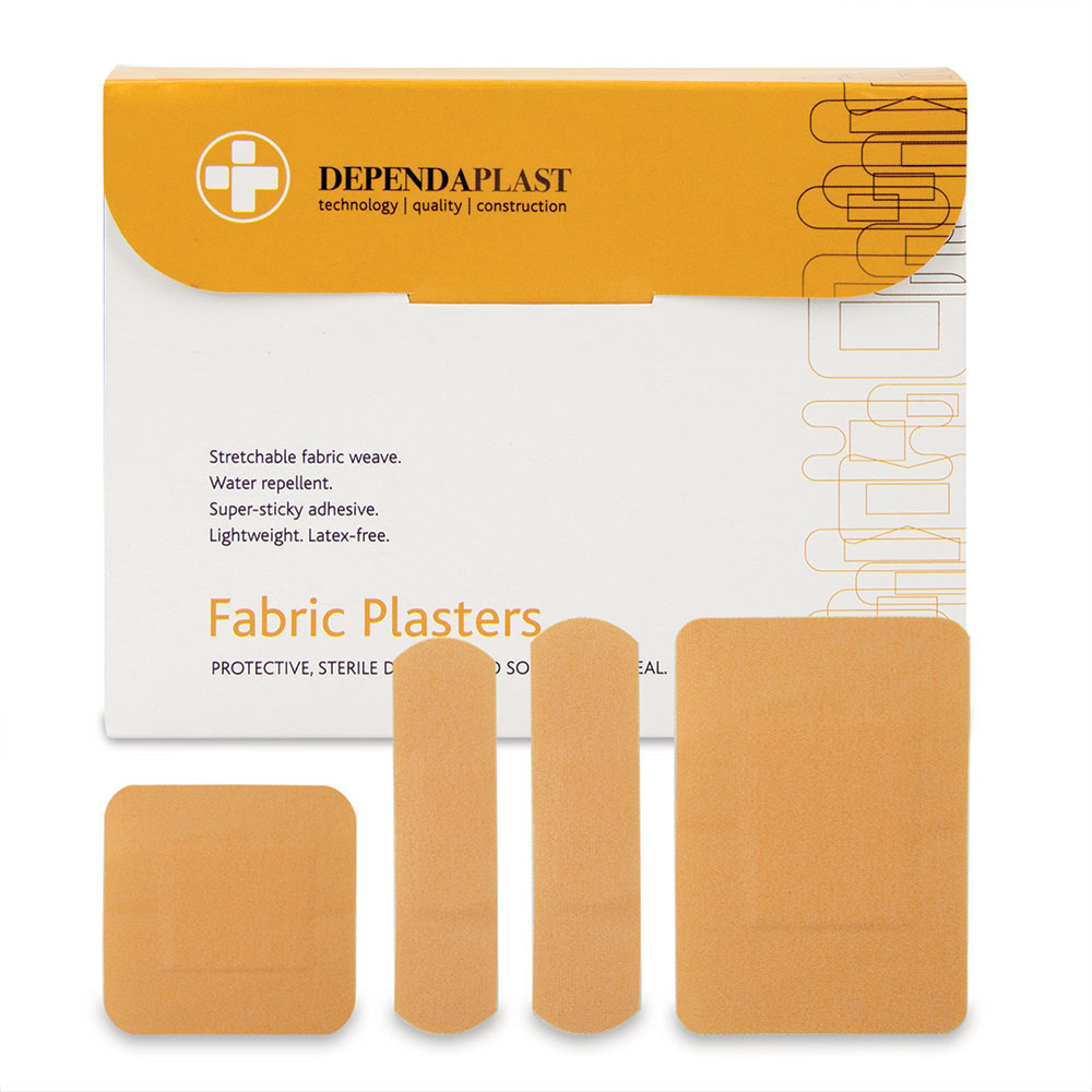 Reliance Medical Reliance Dependaplast Fabric Plasters Assorted Sizes PK100