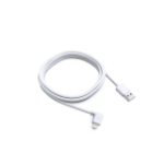 Bouncepad MFI-approved 2m (6ft) Right Angle Lightning cable | White | USB 2.0 BP/CE/BPC/201