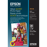 Epson Value Glossy Photo Paper - 10x15cm - 20 Vellen
