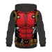 Marvel Deadpool Sublimation Full Length Zipper Hoodie, Male, Medium, Multi-colour (HD061311DED-M)