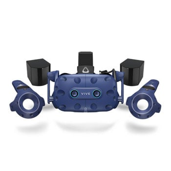 HTC VIVE PRO EYE Eye Tracking Room Scale VR Headset Bundle Including Controllers and Base Stations