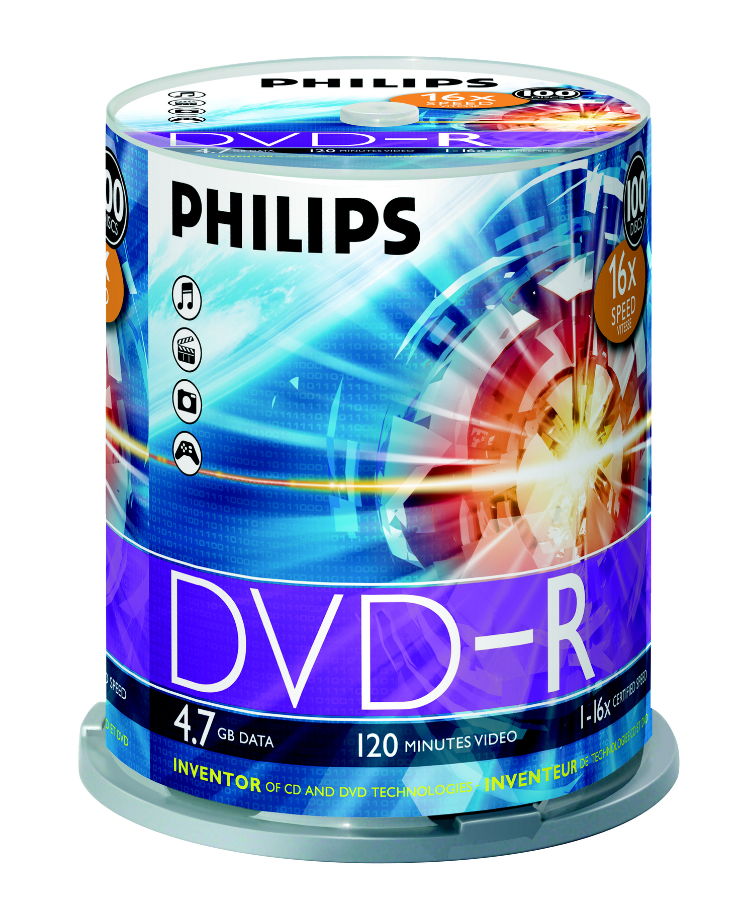 Philips DVD-R 16x 4.7GB / 120min SP (100)