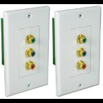QVS RCA3V-C5E outlet box White