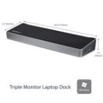 StarTech.com Triple-Monitor USB 3.0 Docking Station - 1x HDMI - 2x DisplayPort