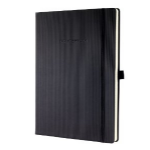 Sigel CO112 A4 194sheets Black writing notebook