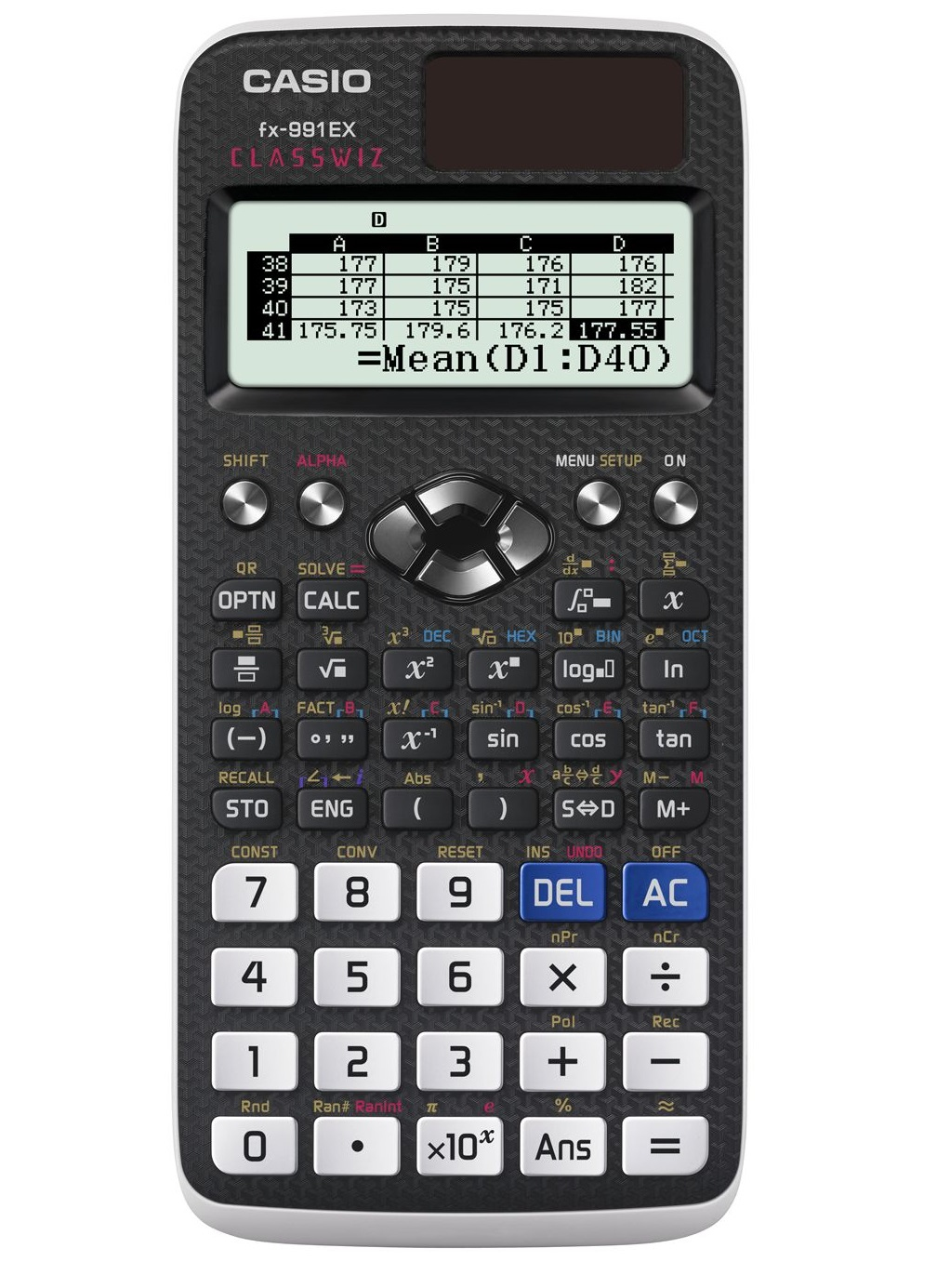 CASIO FX-991EX CALCULATOR POCKET SCIENTIFIC BLACK,WHITE