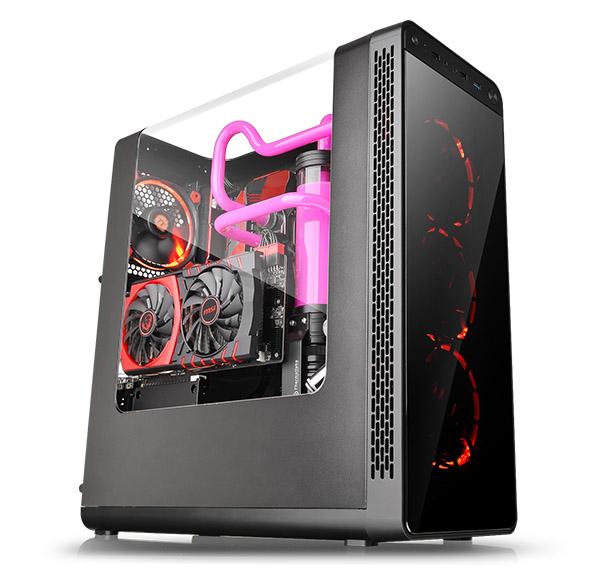 Thermaltake View 27 computer case Midi-Tower Black