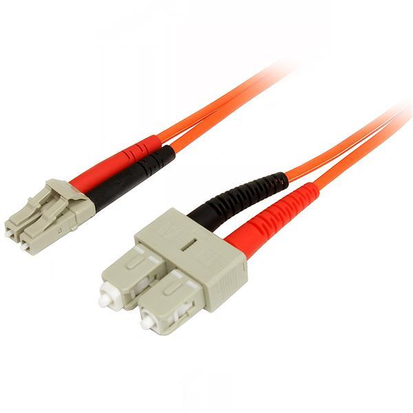StarTech.com Fiber Optic Cable - Multimode Duplex 50/125 - LSZH - LC/SC - 10 m