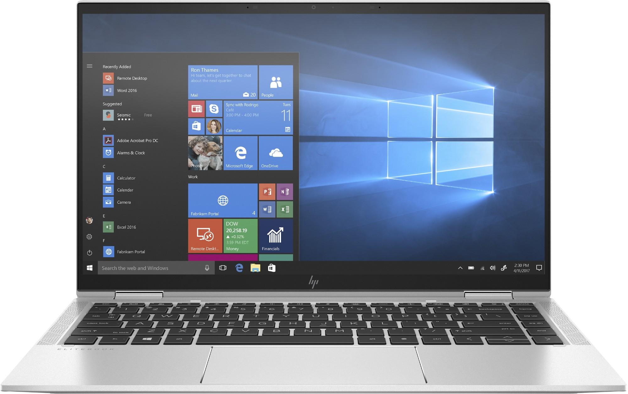 "HP EliteBook x360 1040 G7 Ultra-draagbaar Zilver 35,6 cm (14"") 1920 x 1080 Pixels Touchscreen Intel® 10de generatie Core™ i7 8 GB LPDDR4-SDRAM 256 GB SSD Wi-Fi 6 (802.11ax) Windows 10 Pro"