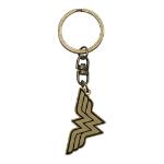 DC COMICS Wonder Woman Logo Keychain, Gold/Black (ABYKEY171)